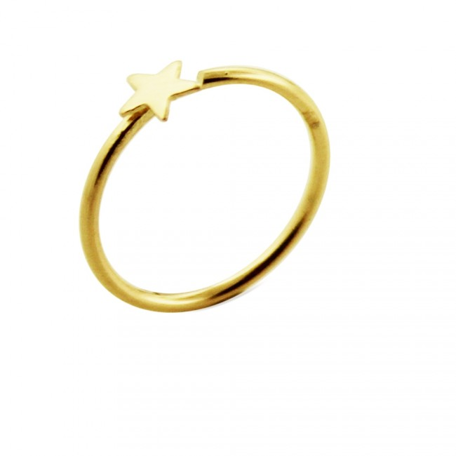 Best Prices For 14k Gold Star Open Hoop Nose Ring 14knr06