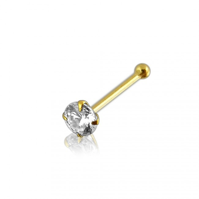 Best Prices For 9k Gold Genuine Diamond Ball End Nose Pin 9k