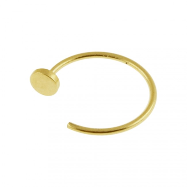 Best Prices For 9k Gold Flat End Open Hoop Nose Ring 9knr09