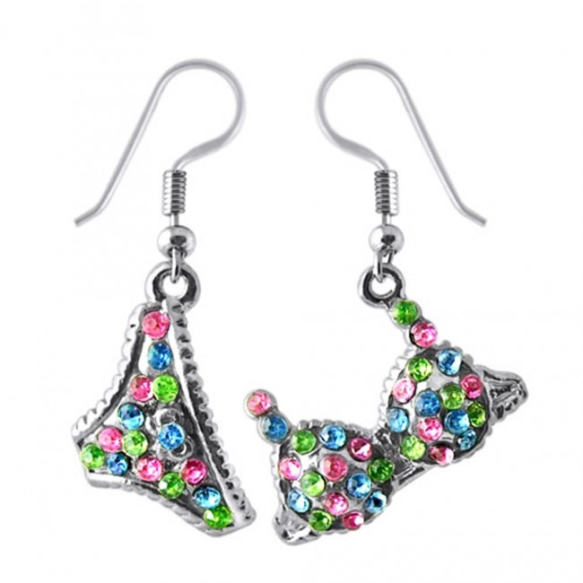 4eee8fa5a838 Best Prices for Multi Crystal Dangling Bra Penti Earring Set