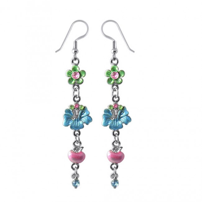 75a788db11d4 Best Prices for Multi Flower Costume Dangling Earring With C