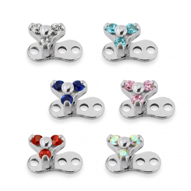 Best Prices For Three Zircon Jewelled Micro Dermal Anchor To