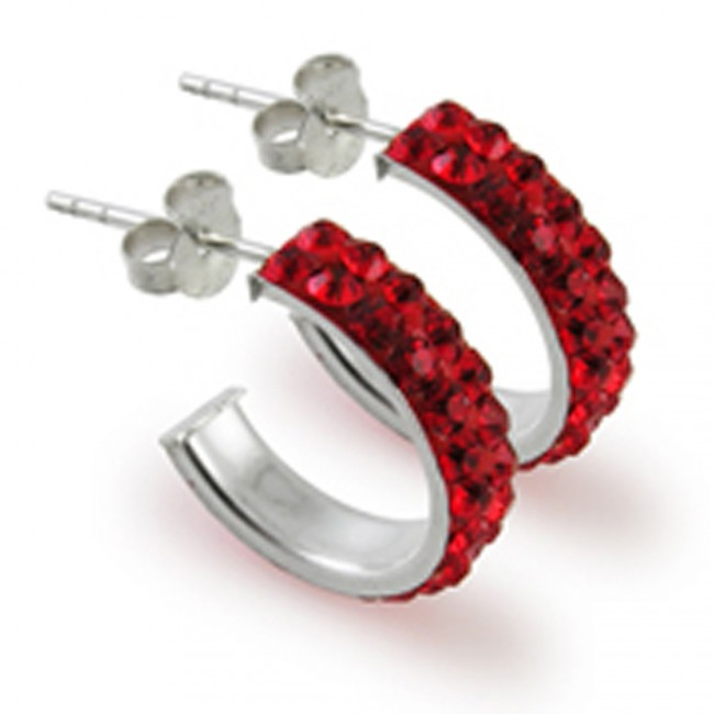 1ef351bcd Best Prices for 925 Sterling Silver Red Crystal Ear Stud Ear