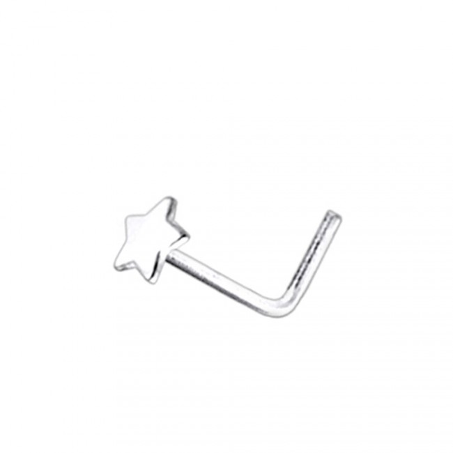 Best Prices For Flat Plain Star L Shaped Nose Pin Ln029 Pi