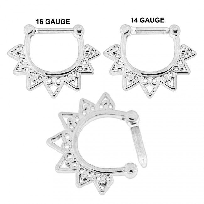 Best Prices For Celestial Filigree Nose Septum Clicker Pierc